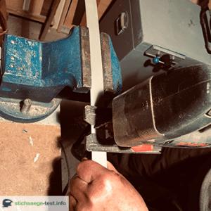 Alu schneiden mit der Stichsäge